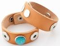 Amices leren armband  voor 3 drukknopen
