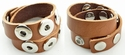 Amices leren armband  voor 6 drukknopen